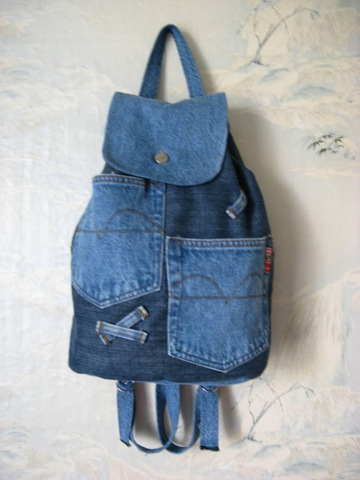 Джинсовые рюкзаки своими руками фото и выкройки из ткани 34